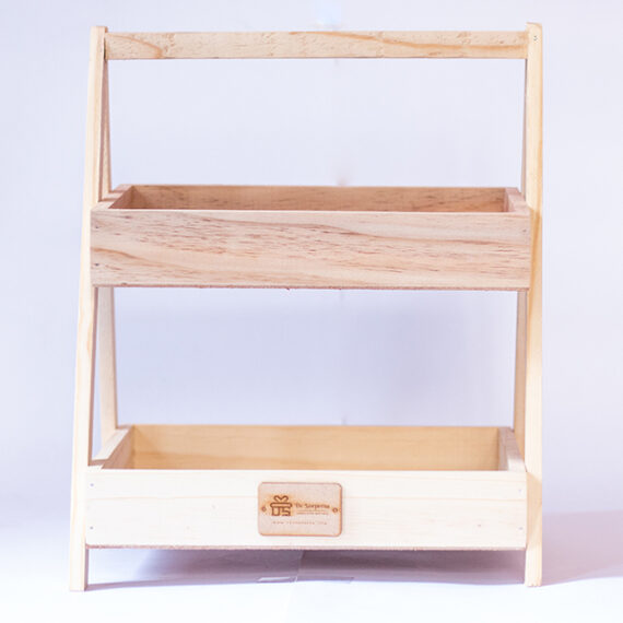 Two-tier Wooden Tray