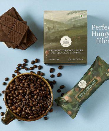 Monsoon Harvest Dark Chocolate & Espresso Crunchy Granola Bar